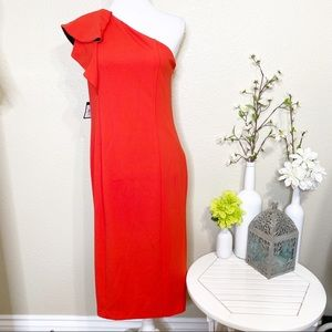 Rachel Roy Collection Red Off the Shoulder Dress L